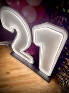 Neon 21 - 95cm high