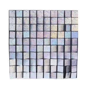 HOLOGRAPHIC SILVER SHIMMER WALL